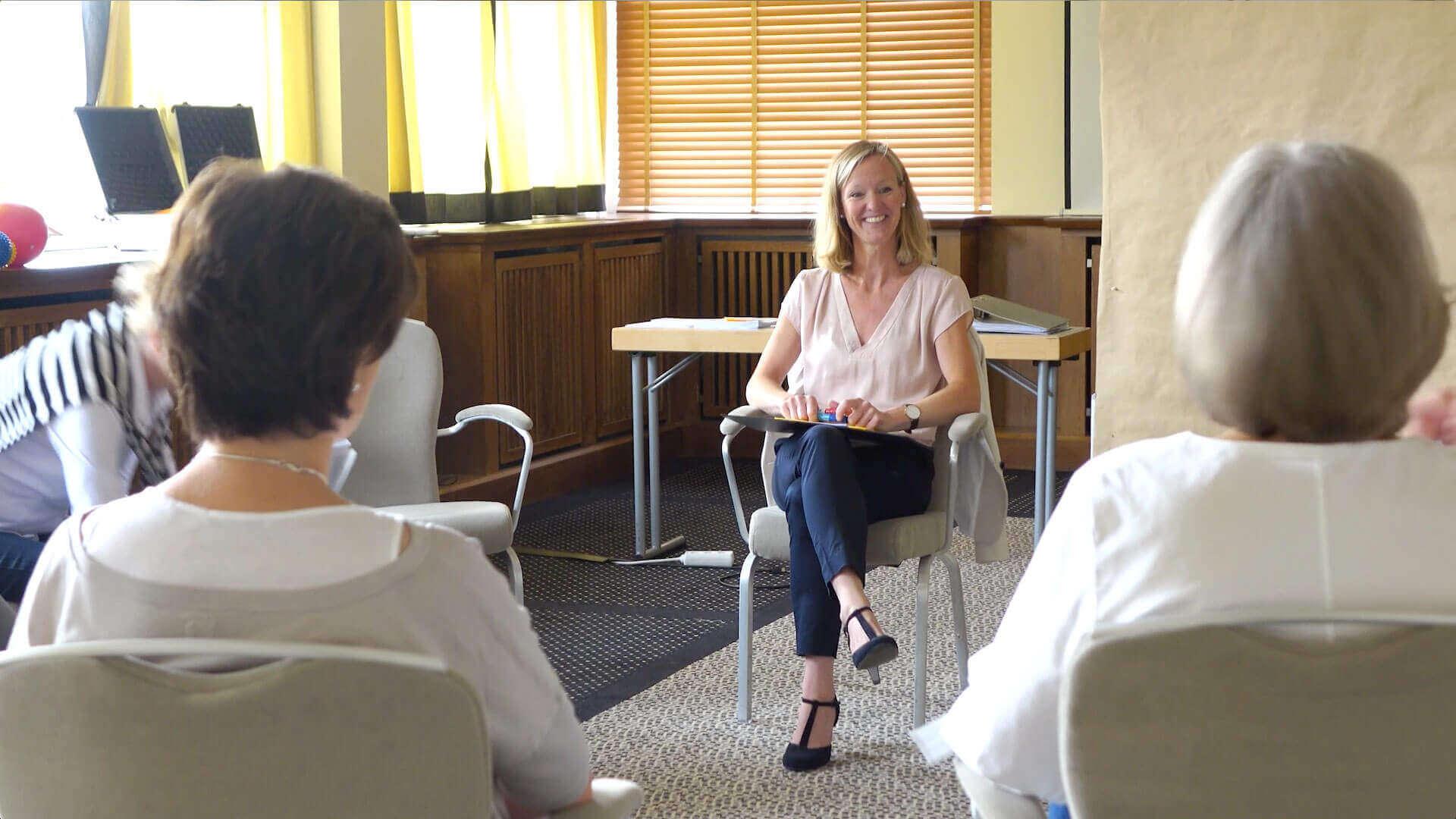 Seminarimpression während einer Fragerunde