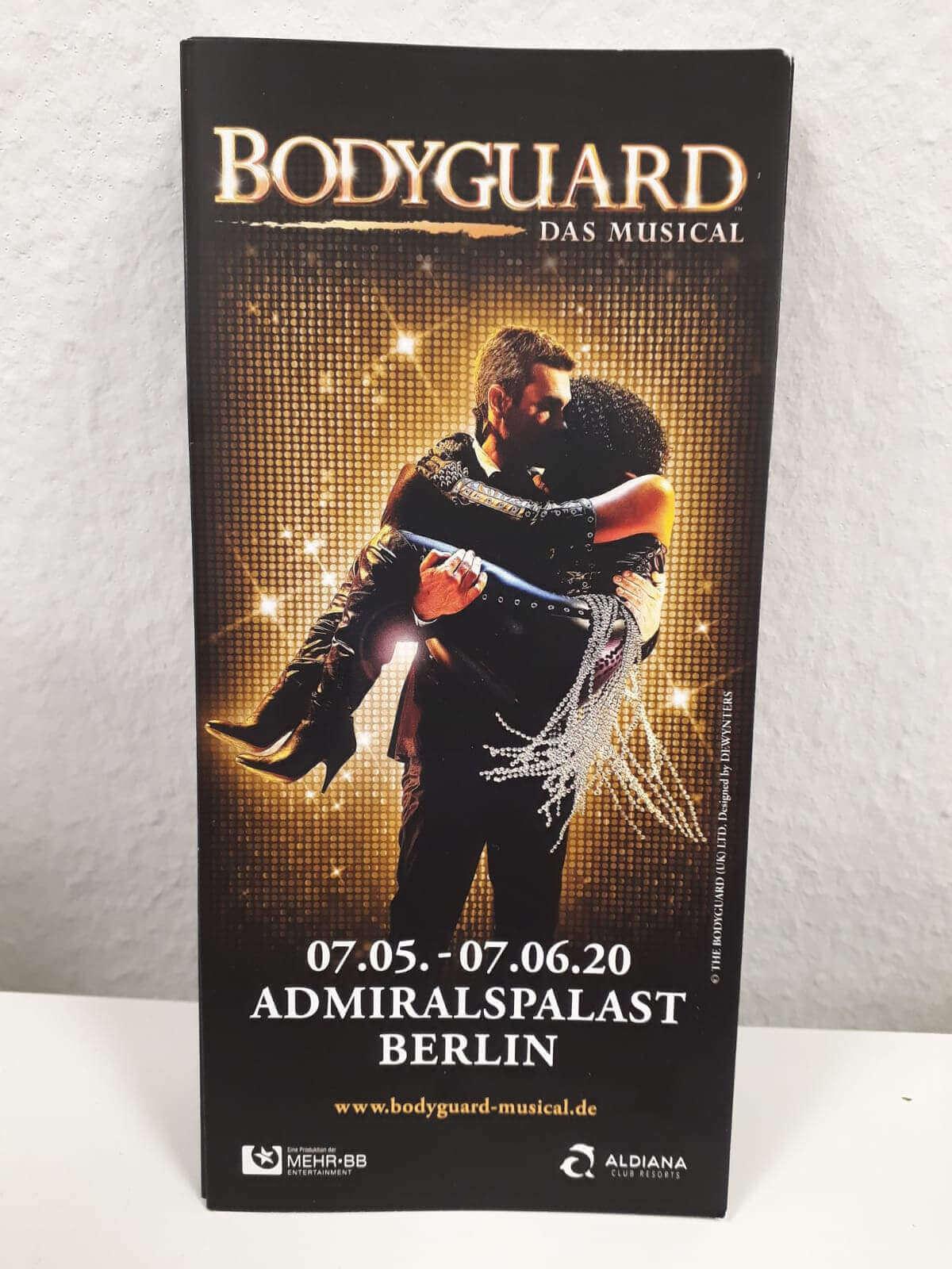 Bodyguard Musikal Flyer in Berlin
